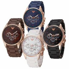 Men's Business Casual Quartz Watch Analog Chronograph Silicone Wristwatch New