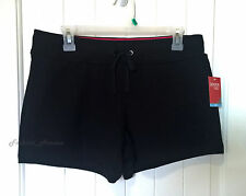 NEW Danskin Women's Active French Terry Casual Running Sport Shorts Black M / XL