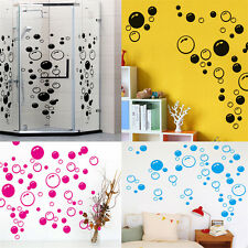 Pretty Bubbles Wall Stickers Bathroom Shower Tile Decal Removable Mural Art