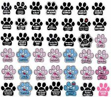 """Paw Magnet (Choose Your Design) Dogs Cats 5.5"""" x 5.5"""" Shaped Heart New"""