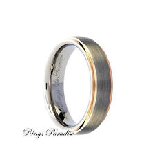 Mens Tungsten Wedding Band, Engagement Ring, Brushed Tungsten Carbide Ring