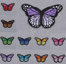 Cute Kid Embroidered Patch Butterfly Motif Applique Iron Sew On Cloth DIY Decors