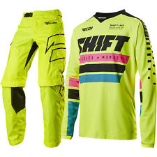 Shift 2017 NEW Recon Phoenix Jersey Pants FLO Yellow Motocross Offroad Gear Set