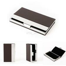 Vogue PU Leather Metal Business Credit Card Name Id Card Holder Case Wallet Box
