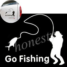 FUNNY Go Fishing Car Sticker Reflective Tape Waterproof Car Stickers and Decals