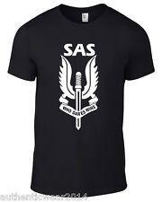 SAS 'Who Dares Wins' MILITARY one colour army special air service T-SHIRT 5*