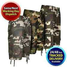 Mens Army Camo Camouflage Shorts With Cargo Combat Pockets