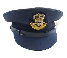 RAF Officers No1 Dress Cap, KING & QUEEN Badge, Military, Royal Air Force, Peak