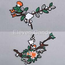 Flower Bird Girl Plum Blossom Embroider Patch Chinese Style Iron Sew On Applique
