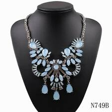 new arrival design fashion big chunky crystal pendant chain statement necklace