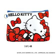 Hello Kitty Carrying Travel Pouch Cosmetic Case Makeup Bag  Sanrio Japan e2354
