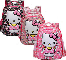 Baby Girls Middle size Cartoon Hello kitty 3D Backpack Schoolbag Shoulder Bag &2