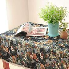 New Pretty Flower Cotton Linen Tablecloth Embroidering Square Table Cover Cloth