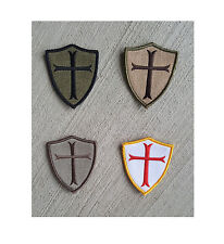SOG NYLON Patch - Crusader Cross - Crusader Shield- See Listing Color Variations