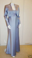Mother of the Bride Dress Outfit Size 12 - 24 26 Blue Wedding Jacket Dress Suit