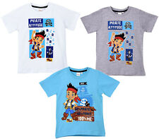 BNWT BOYS JAKE AND THE NEVERLAND PIRATES SHORT SLEEVE T-SHIRT AGE 3 4 5 6
