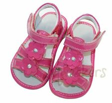 SUPER SALE Size 8 Toddler Hot Pink Patten Leather Squeaker Squeaky Shoes NIB