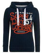 Superdry Entry Hoodie Imperial Navy Brand New