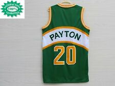 SONICS 40 Gary Payton Seattle Hardwood SWINGMAN CLASSICS Jersey Green THROWBACK