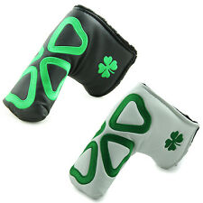 """""""Green Clover"""" Golf Putter Head Cover Headcover For Taylormade Ping Callaway"""