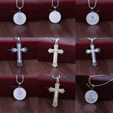 New Fashion Women Men Pendant Necklace Chain Silver Stainless Steel Jewelry Gift