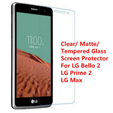 Clear/ Matte/ Tempered Glass Screen Protector For LG Bello 2 LG Prime 2 LG Max