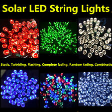 50 100 200 LED Fairy String Lights Solar Powered Outdoor Indoor Garden SA