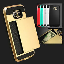 Hybrid Armour Hard Back Card Storage Slide Case Cover for Sumsang SA