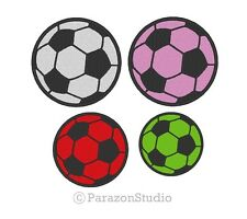 Custom Embroidered Soccer Ball Sport Team Sew on Round Patch (1 PC) -  All Size