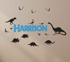 Dinosaur Name Wall Stickers T-Rex Baby Boys Room Removable Personalised