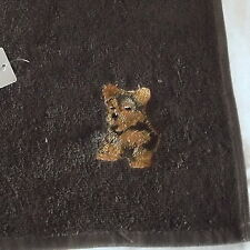 Yorkie, Yorkshire Terrier Dog Embroidered Towels, Dog Gift,