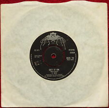 V:INYL T Rex Get It On Marc Bolan 1971 BUG 10 7