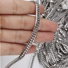 5MM Wholesale 1/5/10Meter Silver Stainless Steel Men Chains Fashion Diy Jewelry