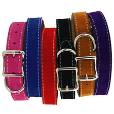 Brand New Auburn Leathercrafters Durable Leather Saratoga Suede Dog Pet Collars