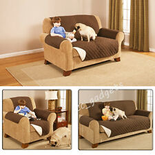 Sofa Armchair Slip Over Cover Quilted Seat Settee Dog Cat Pet Protector Throw UK