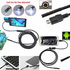 1x 7mm Android Phone Endoscope IP67 Inspection Borescope HD 6LED Camera video