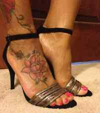NWT-JESSICA SIMPSON JESSIES LEATHER ANKLE STRAP SANDALS (Sz 6 & 8)