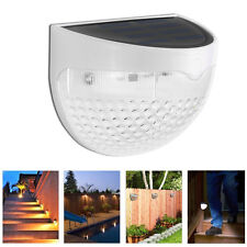 Outdoor Solar Power Sensor LED Path Way Wall Mount Garden Fence Lamp Light White