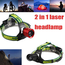 Skywolfeye 8000LM Cree LED Rechargeable Headlamp Headlight Zoomable Focus Torch