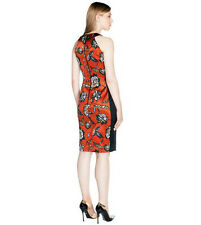 BNWT CUE Floral satin fitted dress Sz 6 RRP$289