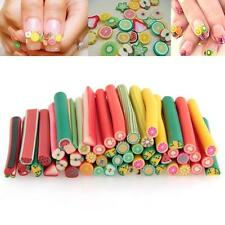 50PCS Nail Art Fimo Canes Rods Sticks Stickers Tips 3D Animal Decoration