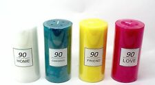 90 Hours Scented Pillar Glass Jar Candle Gift 4 Scents Available