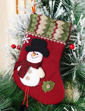 25cm 3 Styles Funny Christmas Stocking Decorations Reindeer Snowman Santa Claus