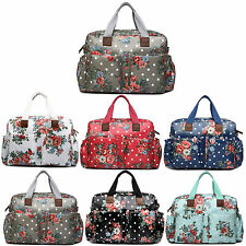 4pcs Oilcloth Flower Mummy Baby Diaper Nappy Changing Maternity Clean Bag