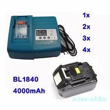DC18RA DC18RC Charger for Makita / 18V 4.0Ah Battery BL1830 BL1840 LXT Li-Ion AU