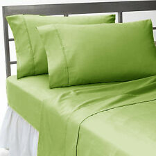 1000TC SAGE SOLID 100%COTTON ALL UK SIZE FITTED/SHEET/DUVET SET/SKIRT