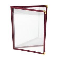 American Style Menu Holder Burgundy A4 Four Pages Catering Restaurant Cafe Bar