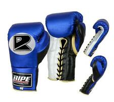 Ripe printed Professional Fight BOXING Gloves 8-20oz Blue,Black&Silver MMA,UFC