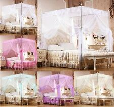 Lace 4 Corner Post Bed Canopy Mosquito Netting Or Frame(Post) Twin Queen King