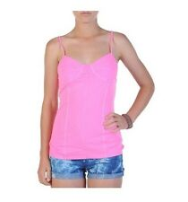 ***NEW*** VOLCOM SUNBLEACHED CAMI TOP ELECTRIC PINK SHIRT SKATE SURF SNOW